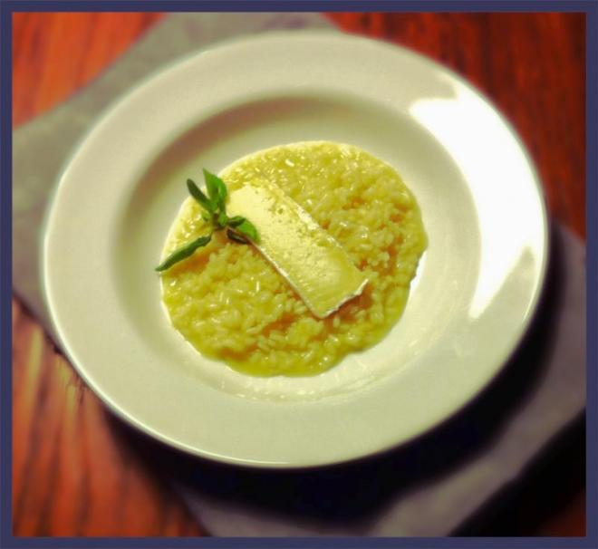 Risoto de limão siciliano e queijo brie