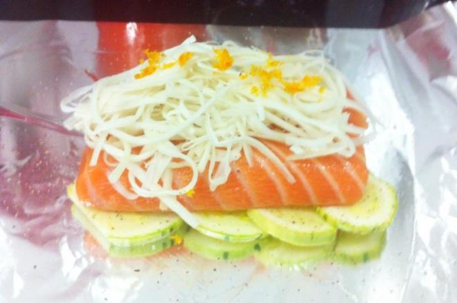 Papelote de salmão