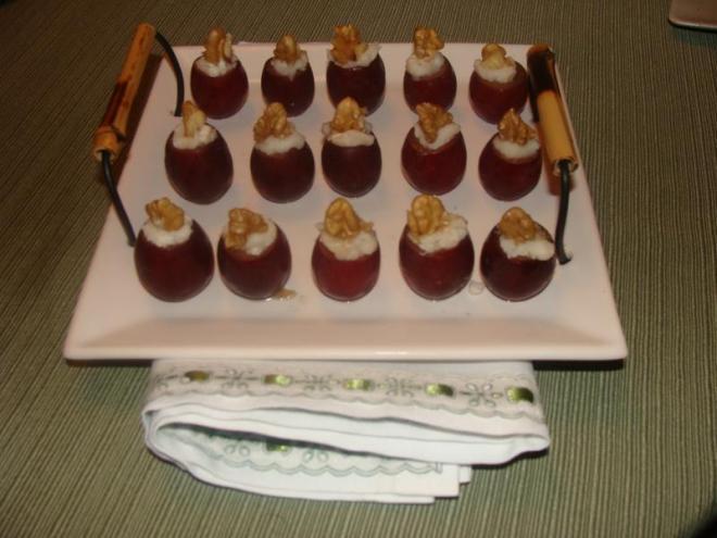 Uvas recheadas